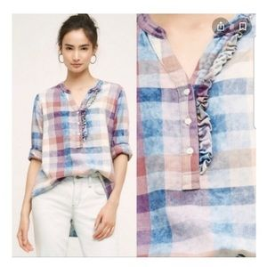Isabella Sinclair plaid tunic with frill